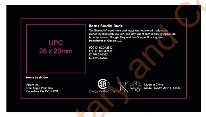 Новые Beats Studio Buds появились в базе данных FCC