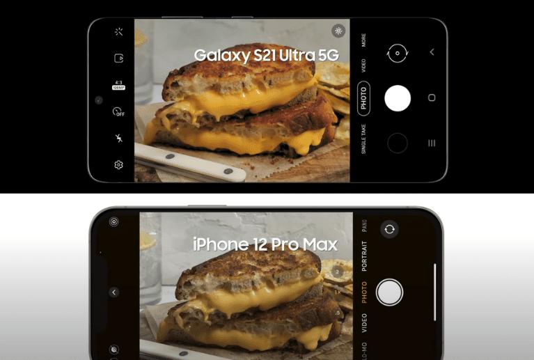 Samsung высмеивает в новой рекламе iPhone 12 Pro Max отсутствие 100-кратного цифрового увеличения