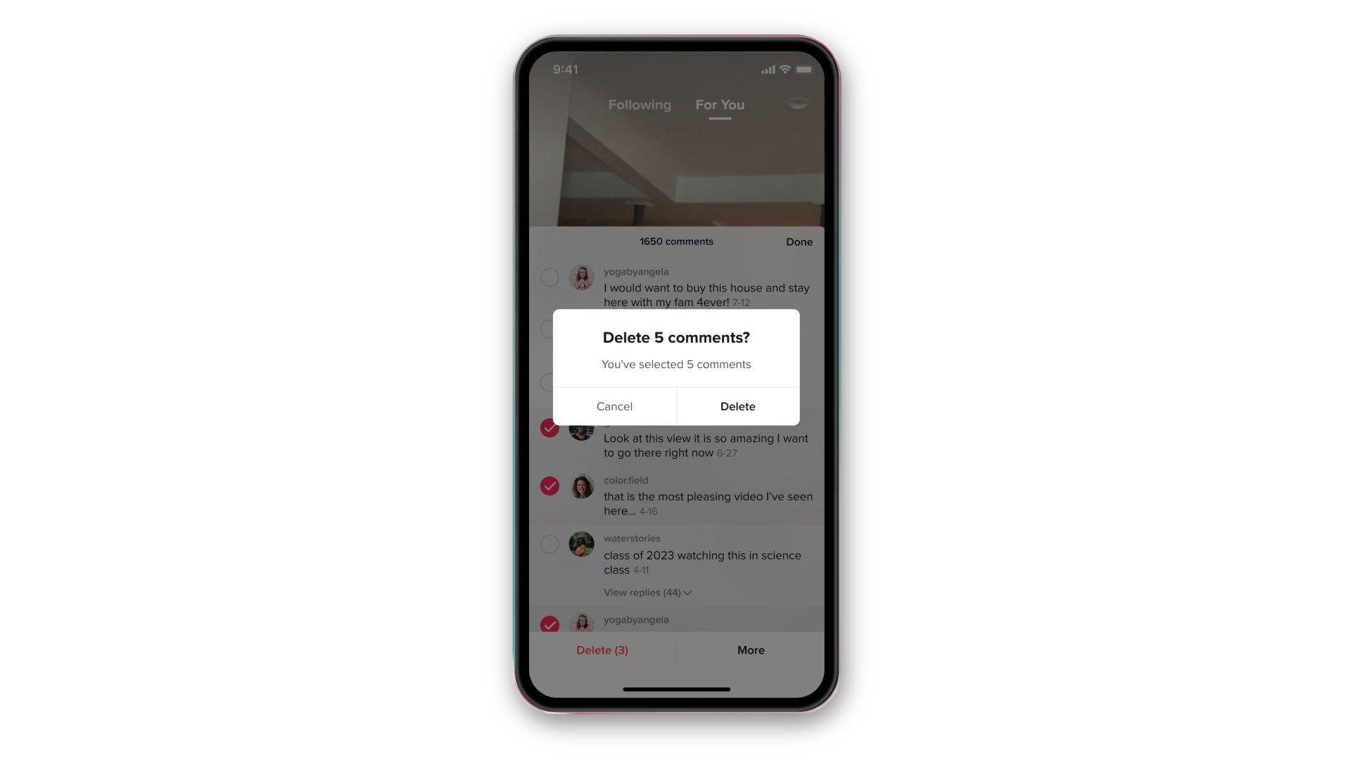 В TikTok на iOS пользователи смогут удалять комментарии к своим видео