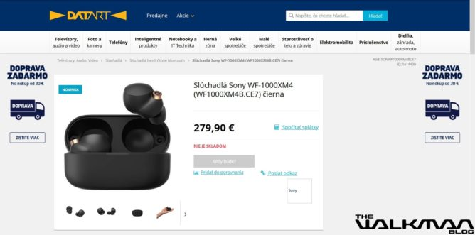 Стала известна стоимость новых флагманских наушников Sony WF-1000XM4