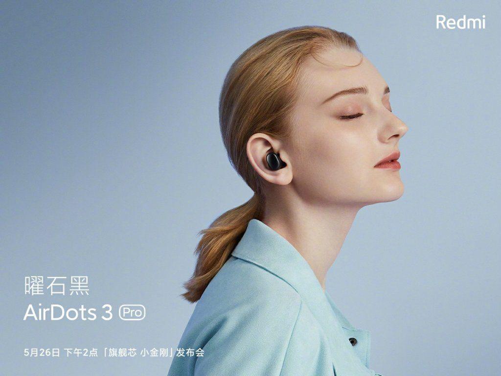 Redmi анонсировала дебют наушников AirDots 3 Pro с активным шумоподавлением