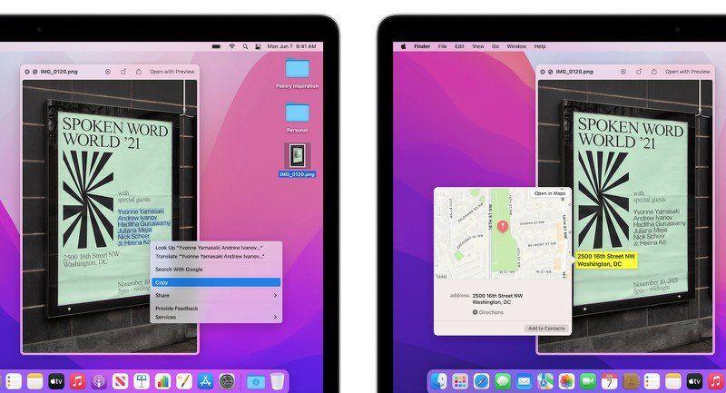 Некоторые функции macOS Monterey недоступны на компьютерах Mac на базе Intel
