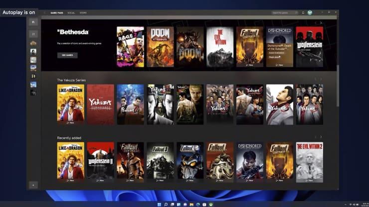 Microsoft добавляет функции Xbox в Windows 11