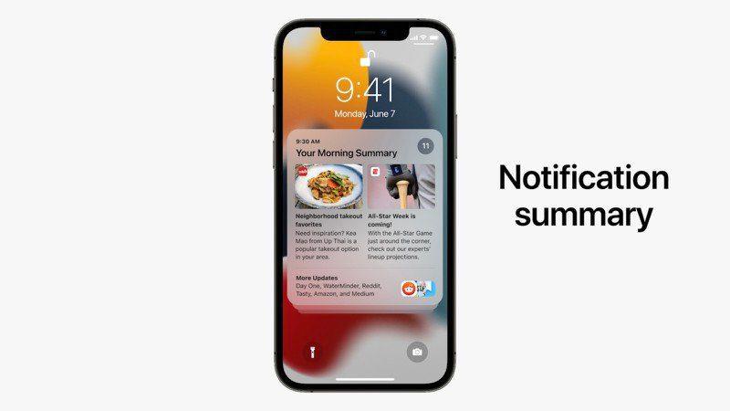 iOS 15: обновленные уведомления и новая сводка уведомлений, отсортированная по приоритету