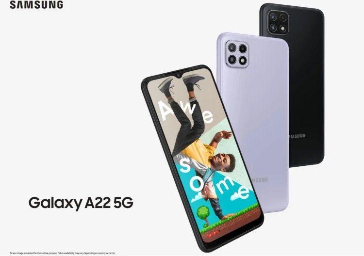 Недорогой смартфон Samsung Galaxy A22 5G получил чип MediaTek Dimensity 700