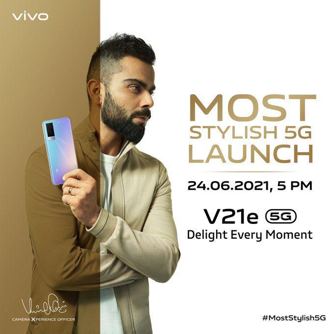 Дата запуска Vivo V21e 5G подтверждена для Индии
