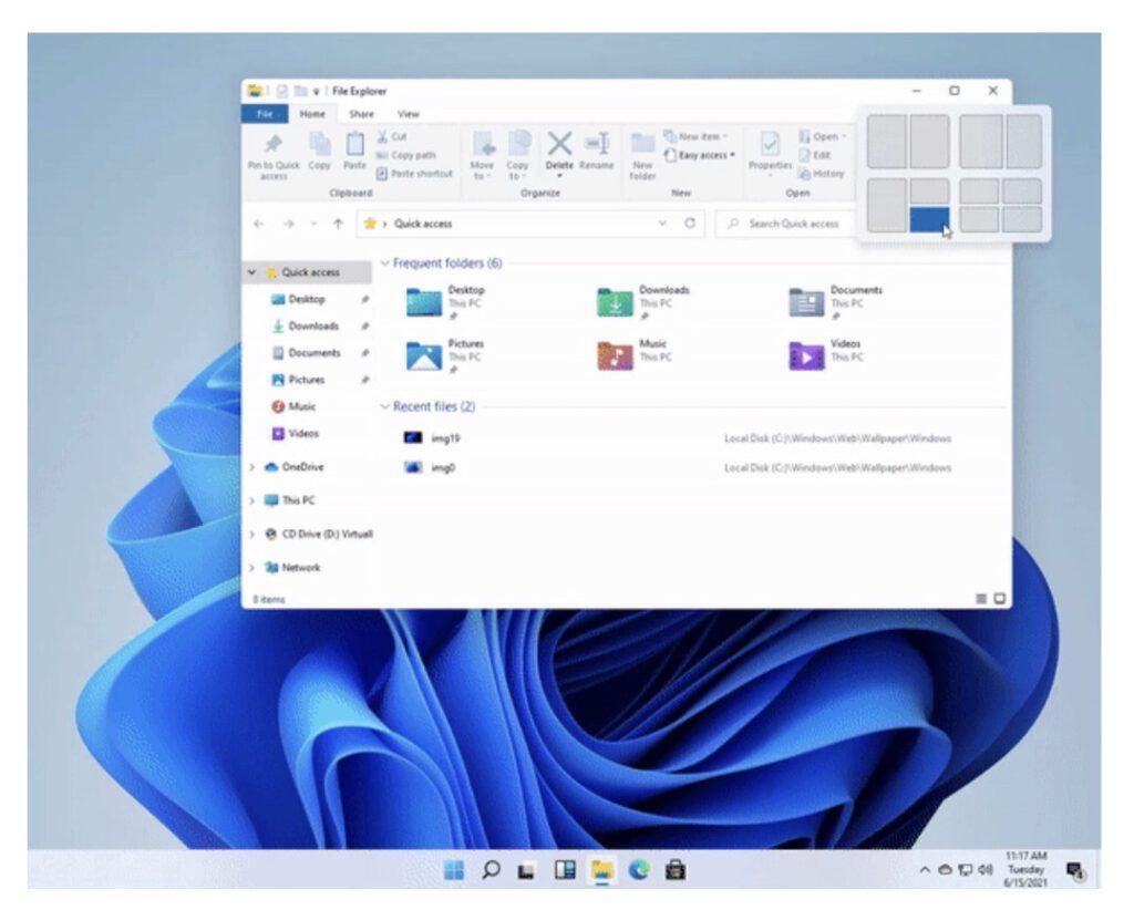 Опубликован дизайн интерфейса операционной системы Windows 11