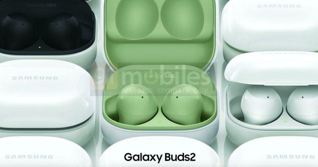 Рендеры Samsung Galaxy Buds2 раскрывают весь дизайн и четыре цвета