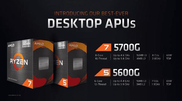 APU AMD Ryzen 'Cezanne' Ryzen 7 5700G и 5600G поступают в розницу для настольных ПК