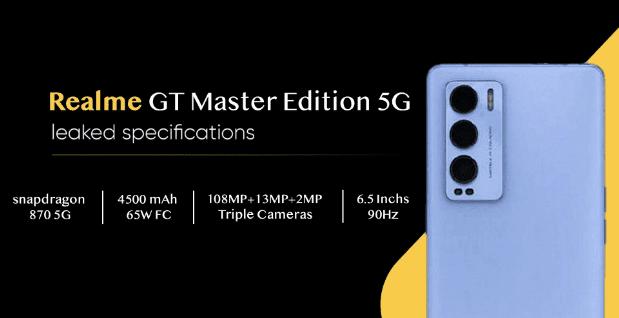 Основные характеристики Realme GT Master Edition 5G просочились перед запуском