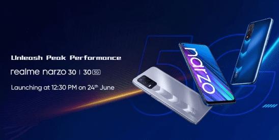 В сеть просочились варианты Realme Narzo 30 5G, 4G и их возможные расцветки