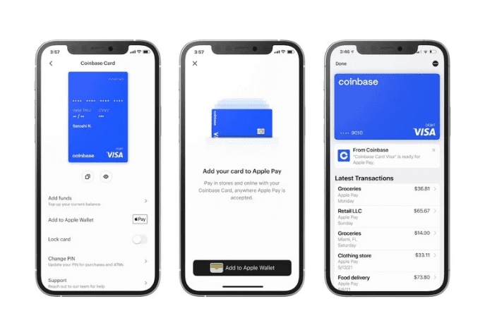 Карта Coinbase теперь поддерживает Apple Pay для удобного использования криптовалюты
