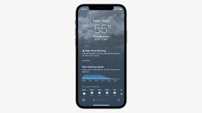 Apple представила обновленное приложение Weather на iOS