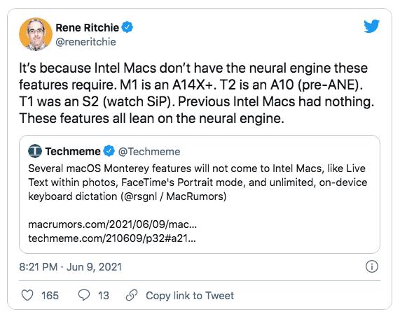 Последняя macOS Monterey не сможет полноценно работать на Mac с процессорами Intel