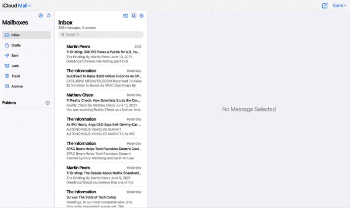 Apple работает над обновленным дизайном iCloud Mail для Интернета