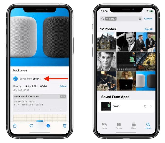 Приложение iOS 15 Photos сообщает вам, из каких приложений были созданы сохраненные изображения