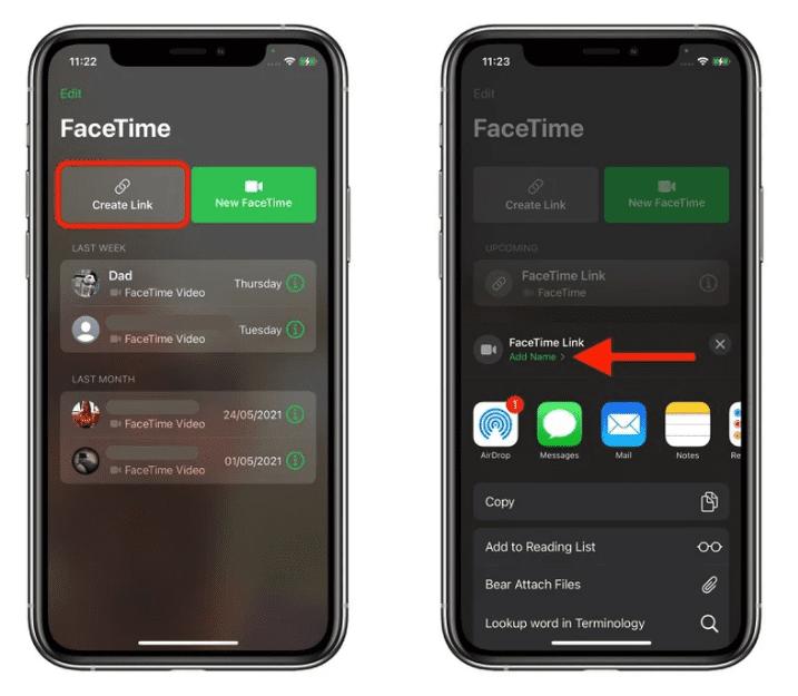 iOS 15: как пригласить пользователей Android на звонок FaceTime