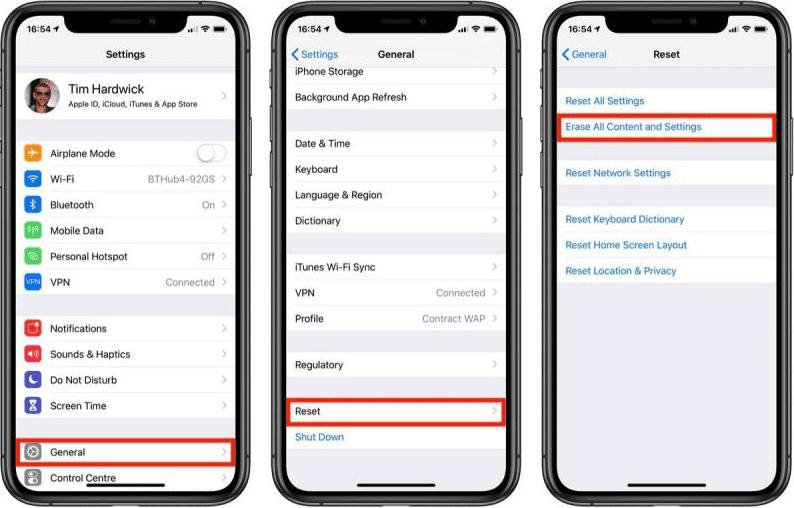 Как стереть данные с iPhone или iPad
