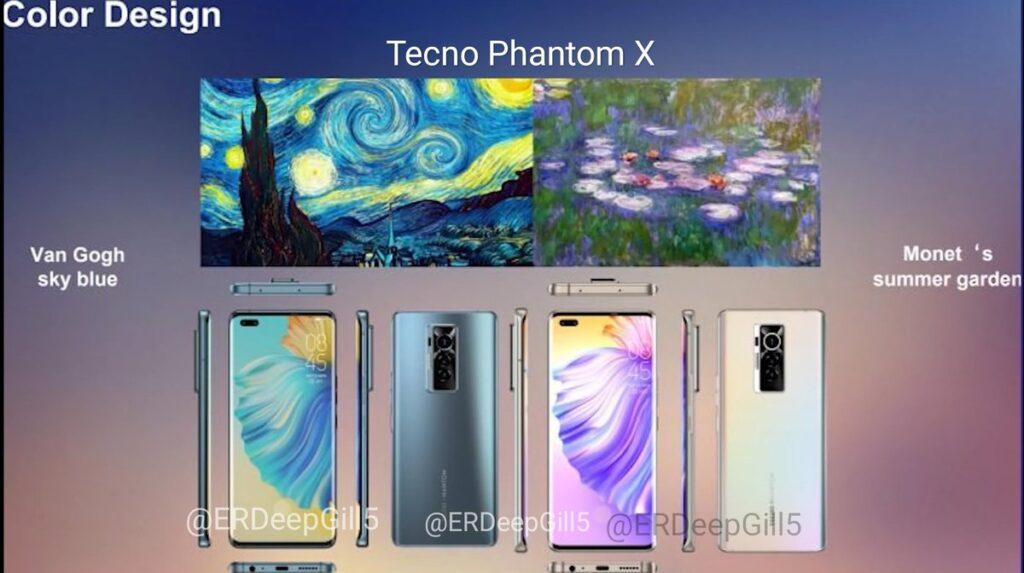 Утечка Tecno Phantom X показывает живые снимки и первоклассные характеристики