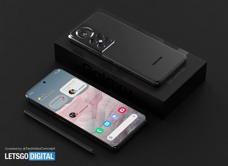 В Сеть слили подробности о новом флагмане Samsung Galaxy S22 Ultra