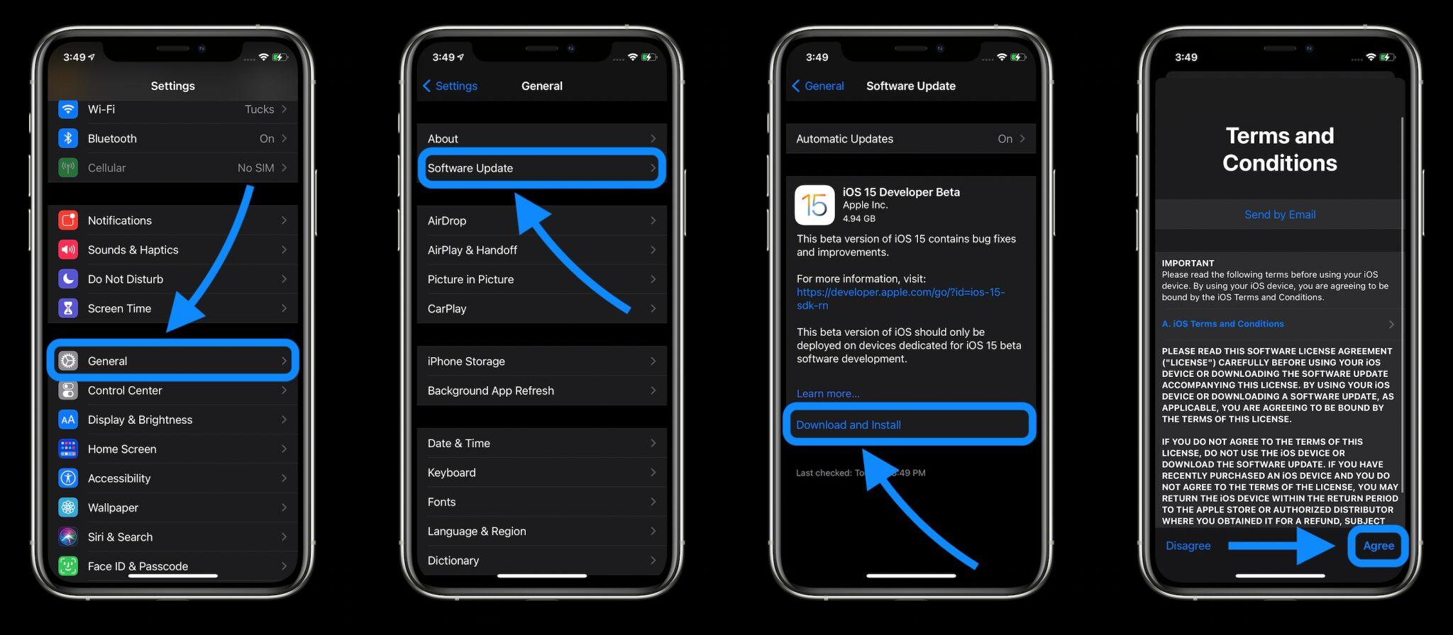 Как установить бета-версии iOS 15 и iPadOS 15 для разработчиков