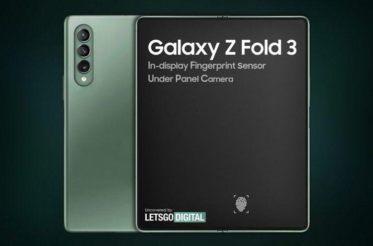 Samsung патентует складной смартфон с несколькими подэкранными камерами