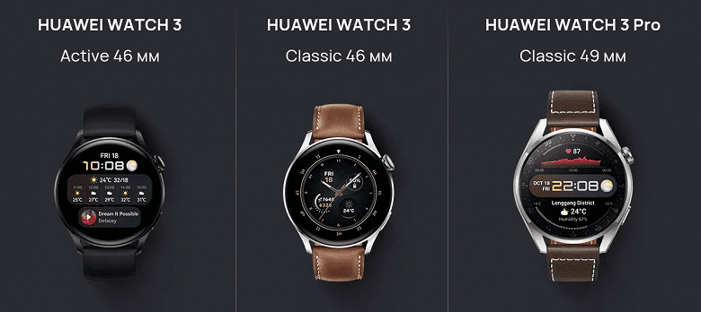 Huawei представила в РФ смарт-часы Watch 3 с операционной системой HarmonyOS 2.0