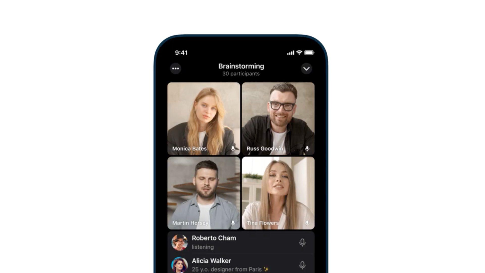 В Telegram запустили групповые видеозвонки и возможность демонстрации экрана