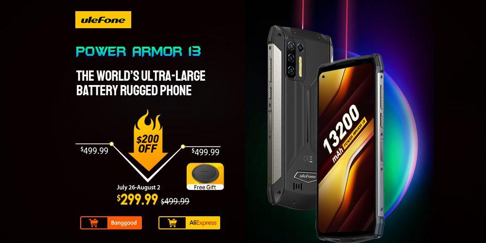 Смартфон Ulefone Power Armor 13 поступил в предварительную продажу за 299,99 долларов