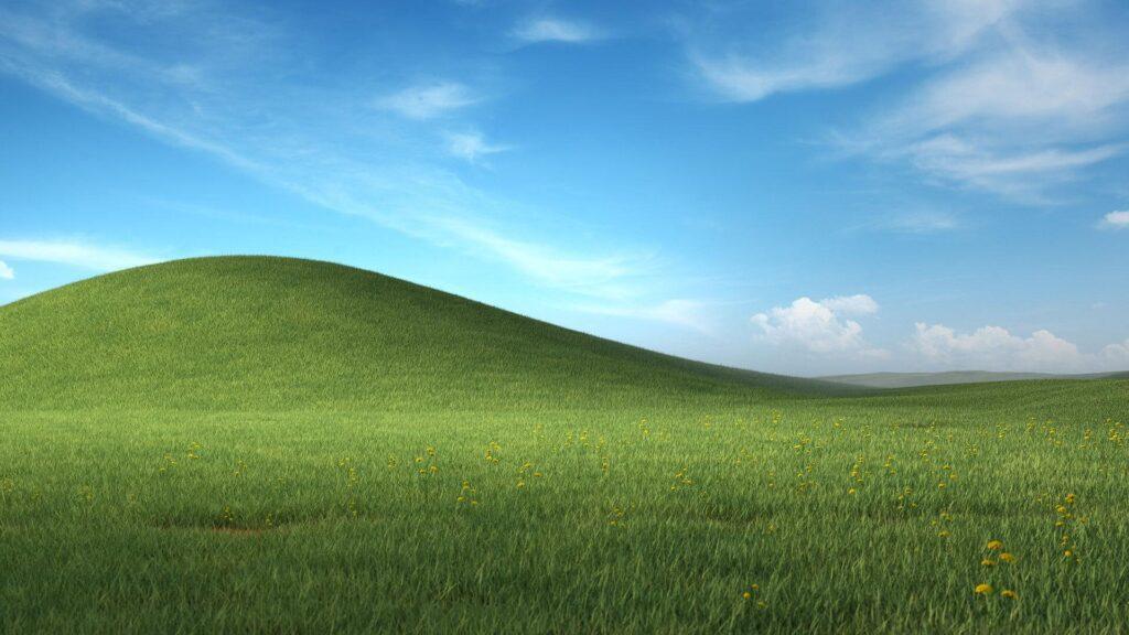 Подборку классических обоев из Windows XP выпустила Microsoft