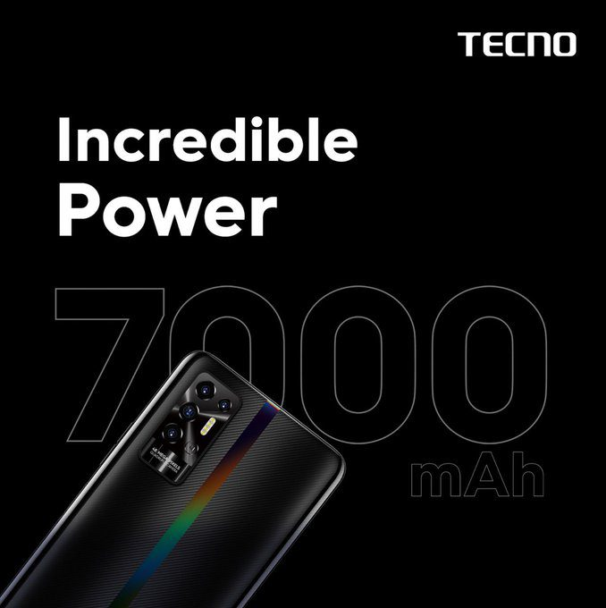 TECNO POVA 2 скоро будет запущен в Индии с массивной батареей 7000 мАч