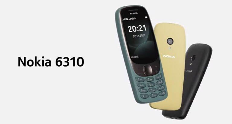 Nokia 6310 возвращается в элегантном новом корпусе за 60 евро