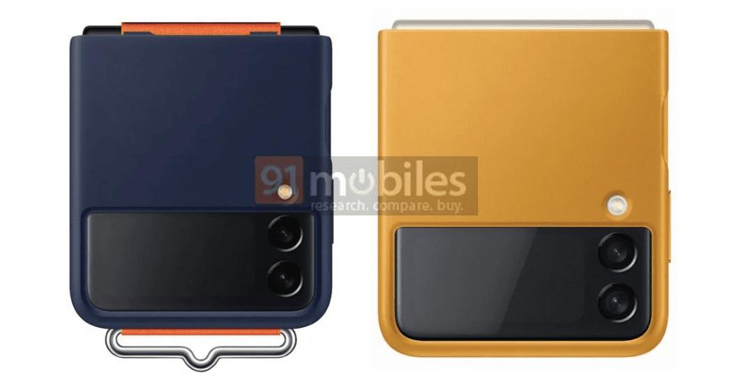 На рендерах были представлены официальные чехлы Samsung Galaxy Z Flip3