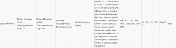 Запуск Realme Book 3C ожидается в августе