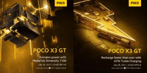 POCO X3 GT получит SoC MediaTek Dimensity 1100 и быструю зарядку 67 Вт
