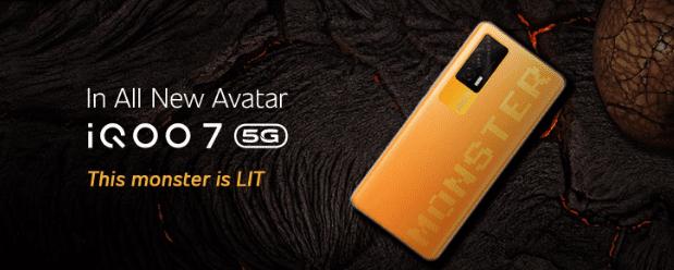 Вариант iQOO 7 5G Monster Orange поступит в продажу в Индии по цене 430 долларов