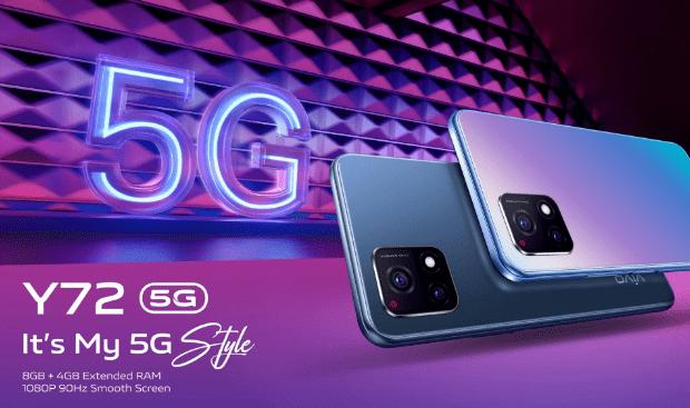 Vivo Y72 5G запущен в Индии с дисплеем 90 Гц, Snapdragon 480 и 48-мегапиксельной двойной камерой