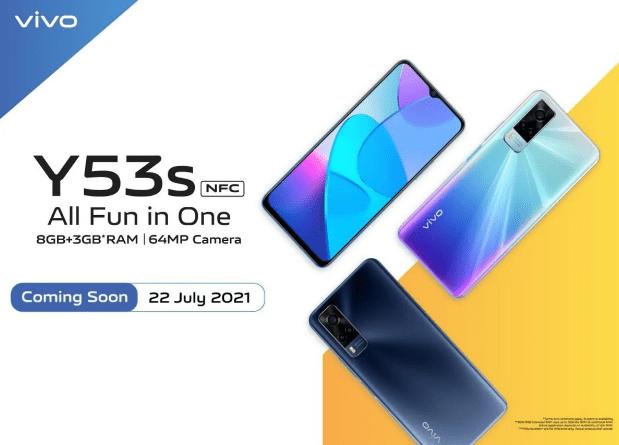 Vivo Y53s NFC запустят 22 июля в Индонезии