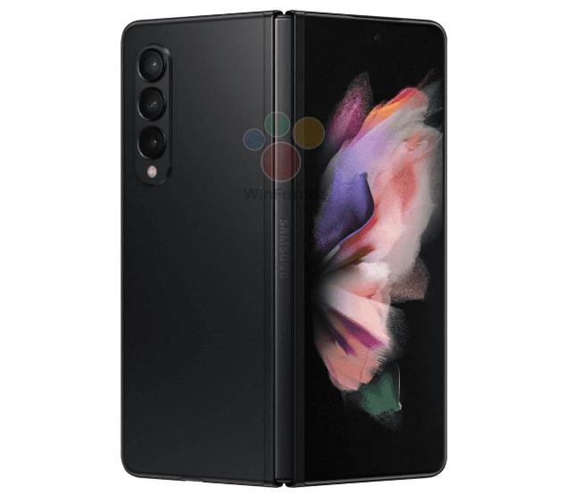 Вариант Phantom Black от Samsung Galaxy Z Fold3 появился в просочившихся пресс-рендерах