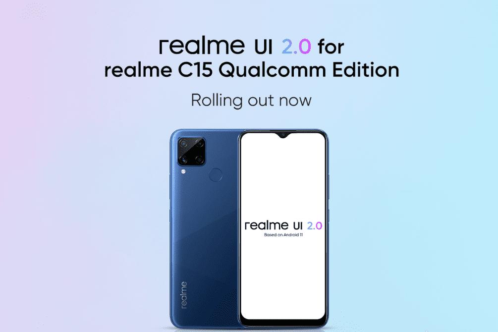 Realme C15 Qualcomm Edition получает стабильное обновление Android 11