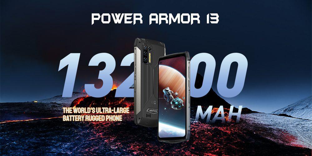 Ulefone Power Armor 13 запущен с массивной батареей 13200 мАч