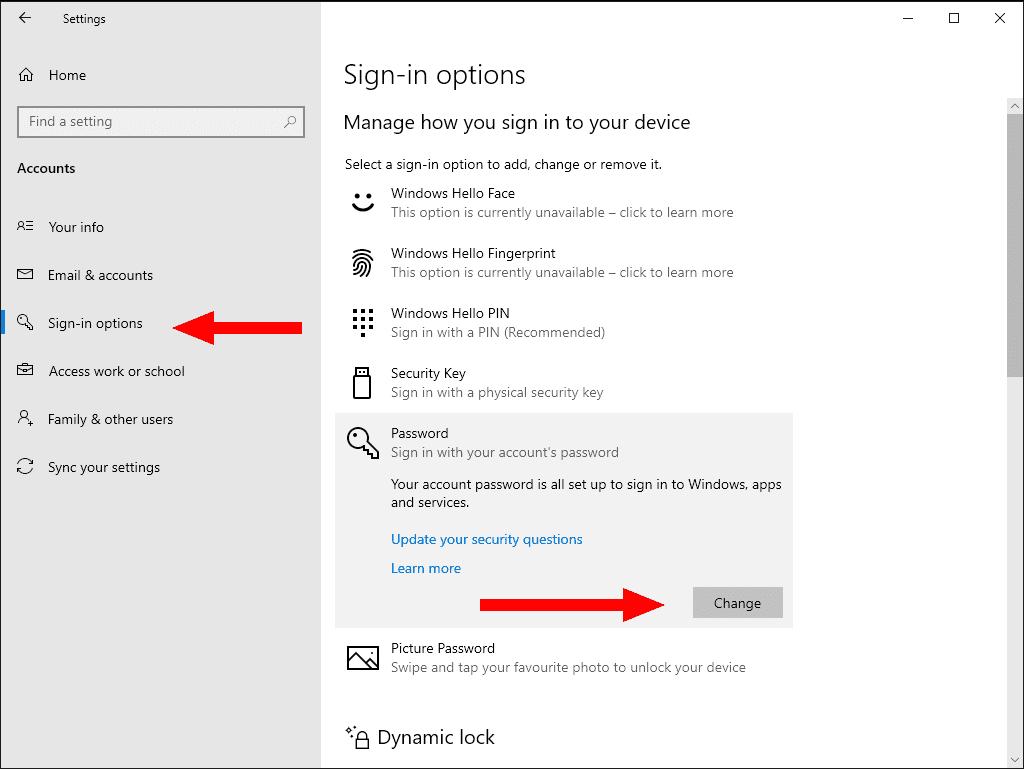 как убрать пароль при входе windows 10