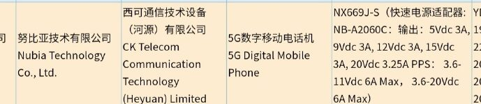 Nubia Red Magic 6S отмечен сертификатом 3C с быстрой зарядкой 120 Вт