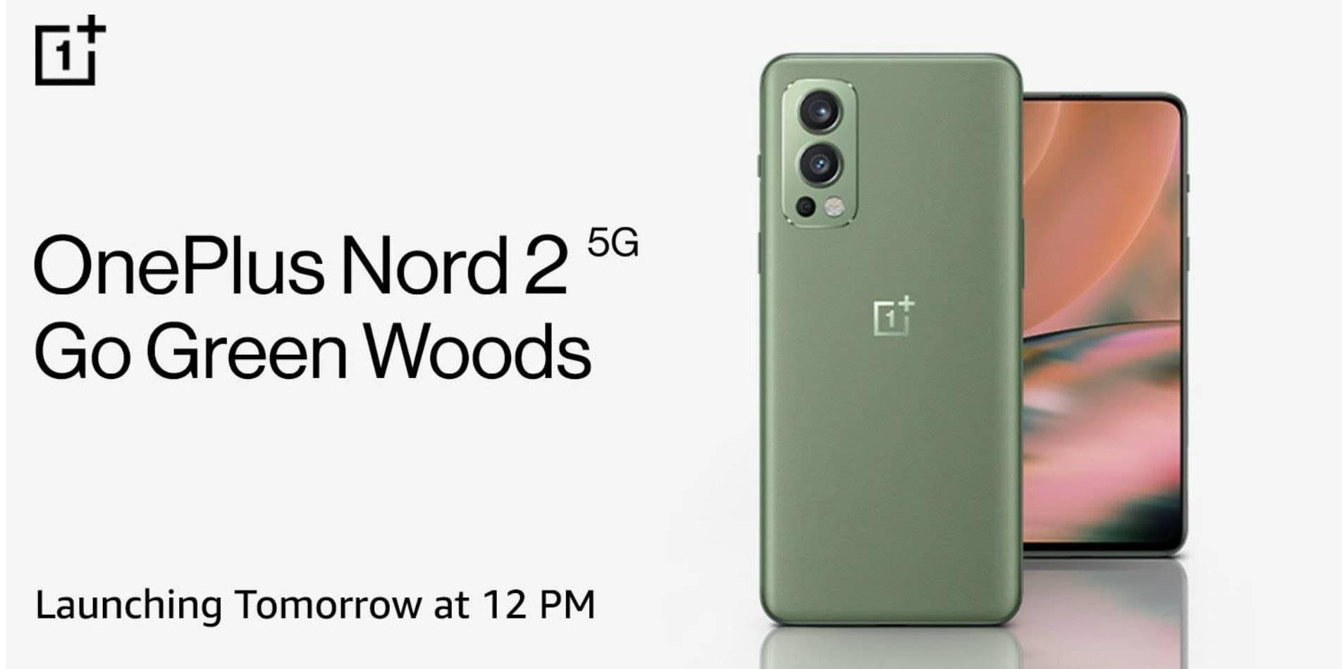 OnePlus Nord 2 в цветном варианте Go Green Woods поступит в продажу в Индии завтра