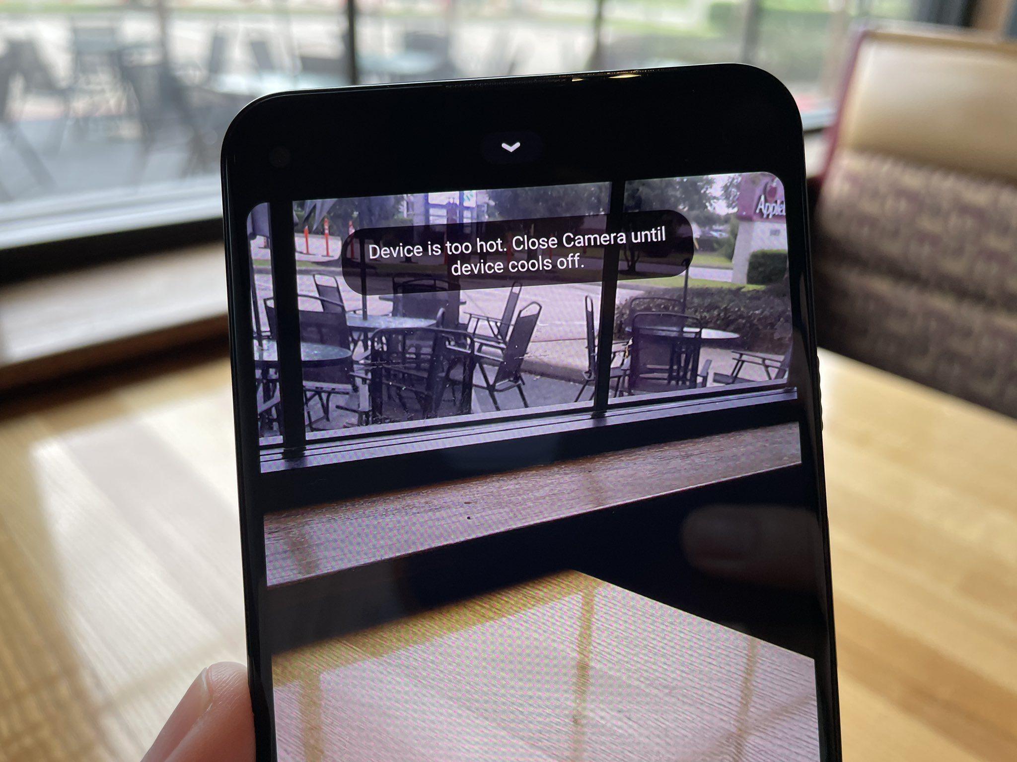 Google Pixel 5a столкнулся с проблемой перегрева при записи видео