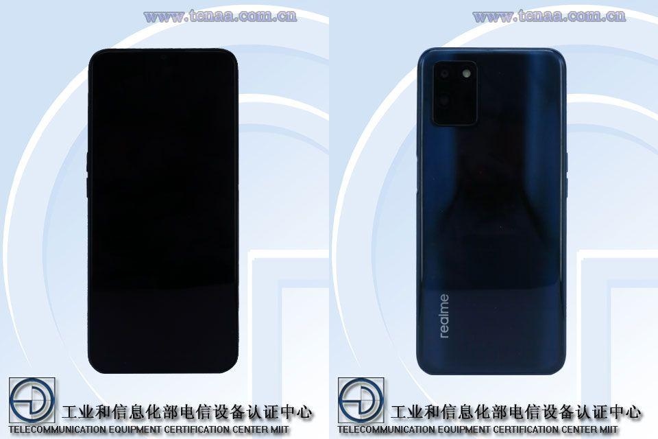 Предстоящий дизайн Realme RMX3125 раскрылся на изображениях TENAA