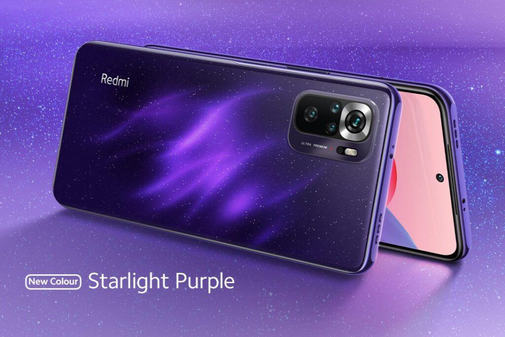 Официально объявлен запуск Redmi Note 10S Starlight Purple в Индии
