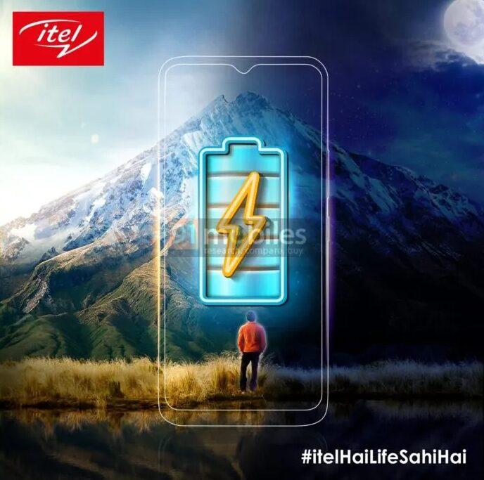 Утечка тизера смартфона Itel показала большую батарею и каплевидный дисплей