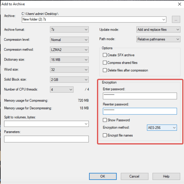 Как поставить пароль на папку и zip-архив в Windows 10?