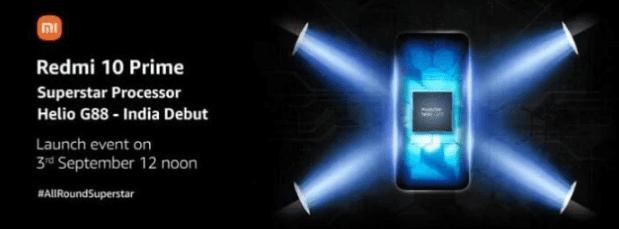 Xiaomi подтвердила, что Redmi 10 Prime будет иметь чип Helio G88, как и Redmi 10